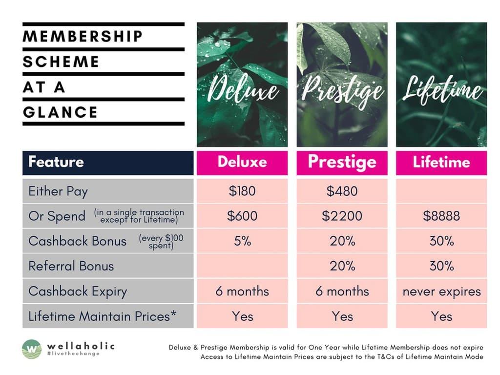 Wellaholic Membership Scheme